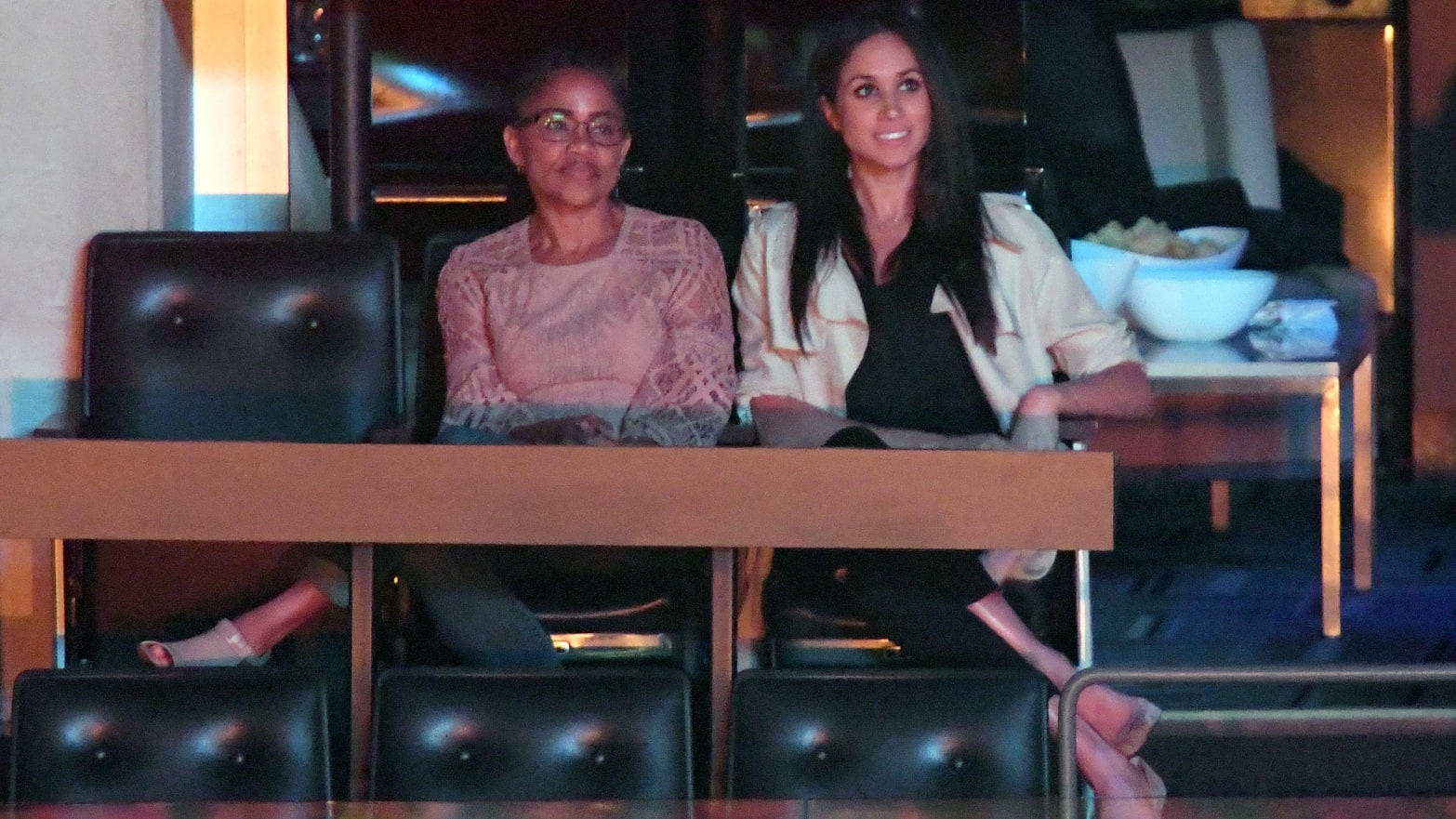 Doria Radlan and Meghan Markle are seen at the Closing Ceremony on day 8 of the Invictus Games Toronto 2017 at the Air Canada Centre
