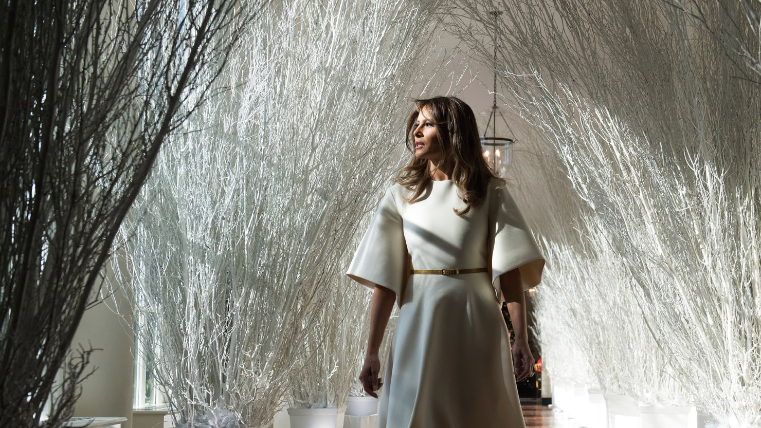 step inside melania trumps nightmare before christmas - Trump Christmas Decorations