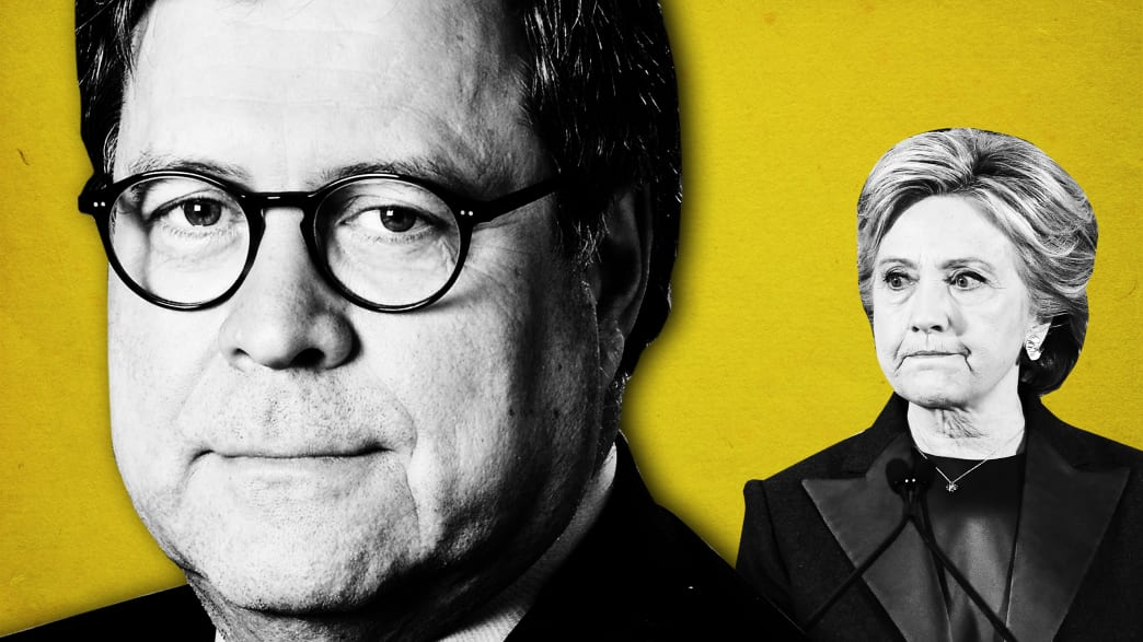 William Barr May Let Trump Dodge Russia Probe by Harping About Hillary