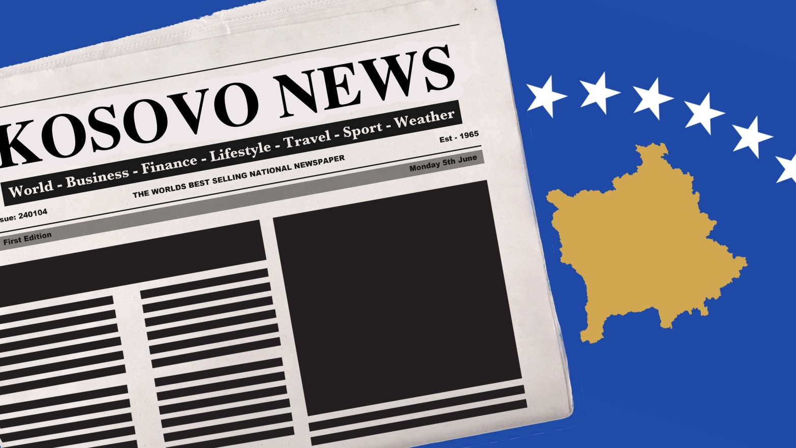 In Kosovo, the free press is attacked violently.
