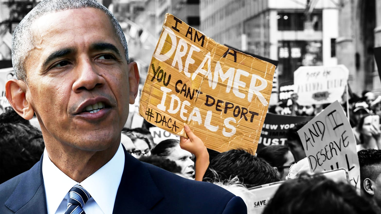 Barack Obama spoke out to defend undocumented immigrants who arrived in America as children.