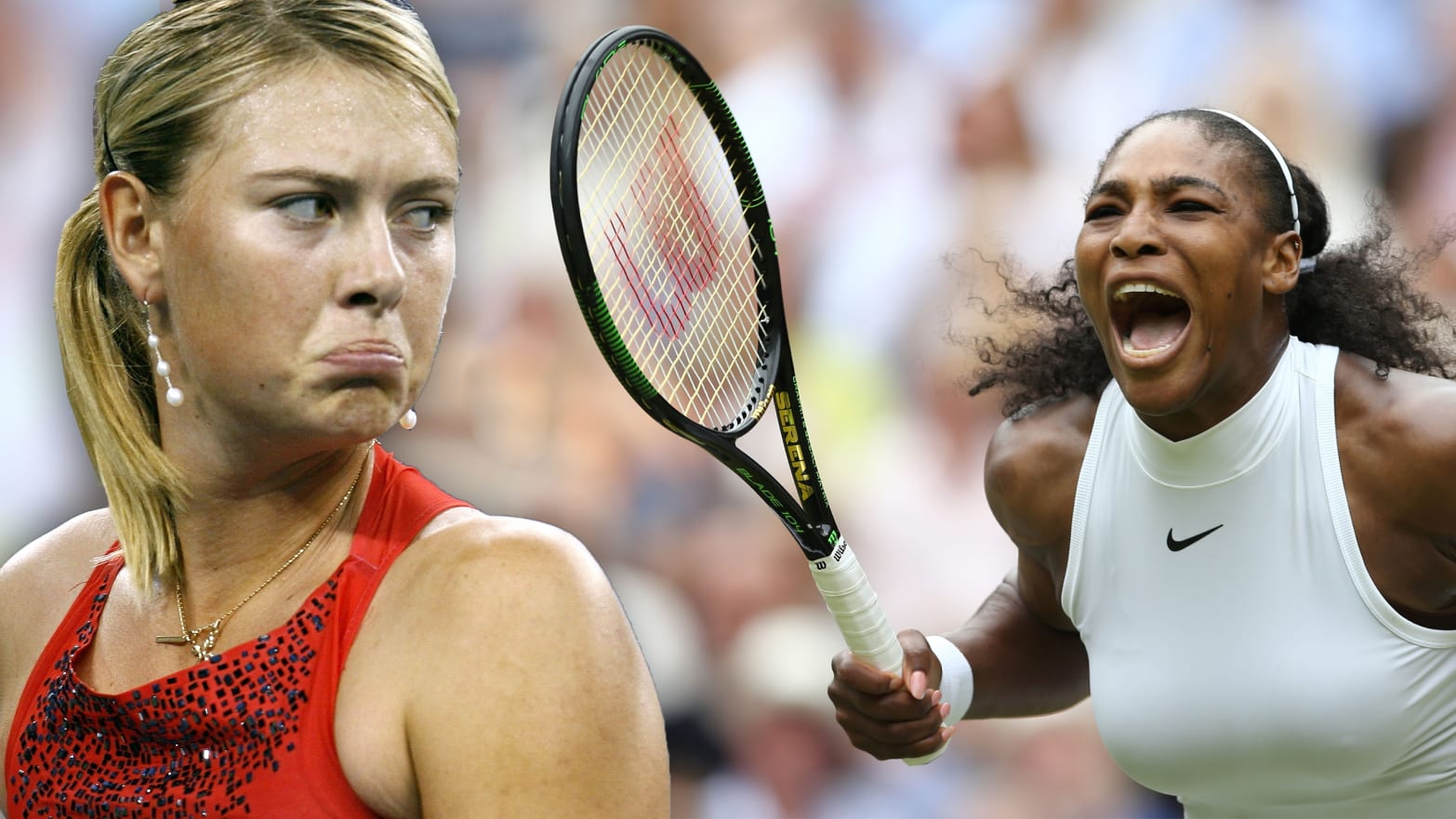 Image result for Images of serena williams and maria sharapova