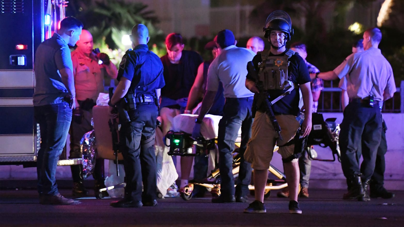 A gunman has opened fire on a music festival in Las Vegas.