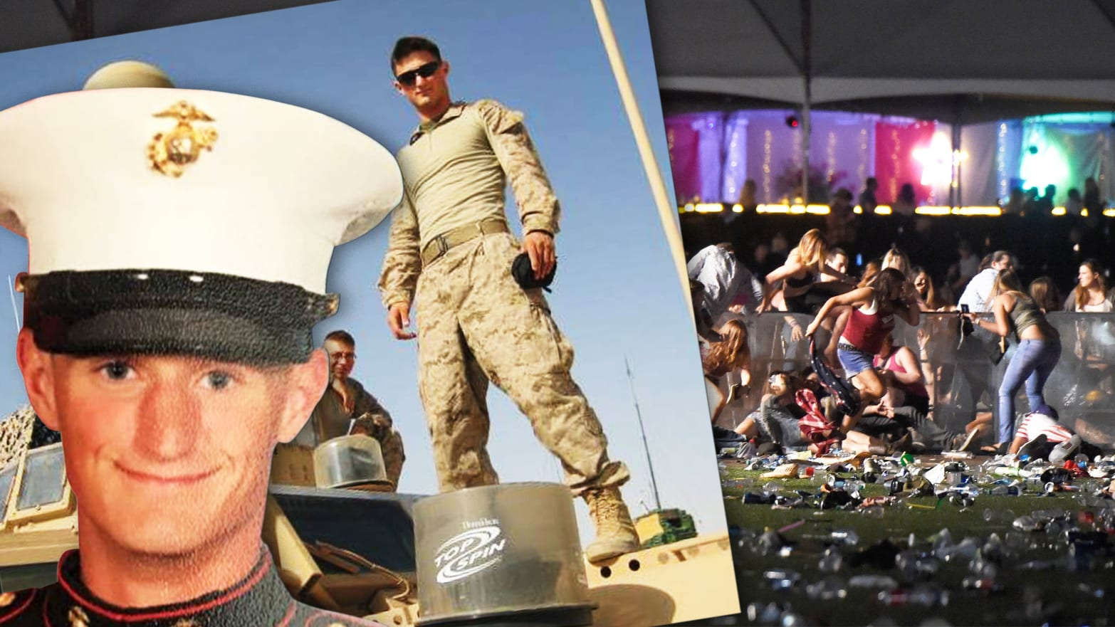 Marine Veteran Heard Shots, Grabbed Pickup Truck, and Took Vegas Victims to Safety
