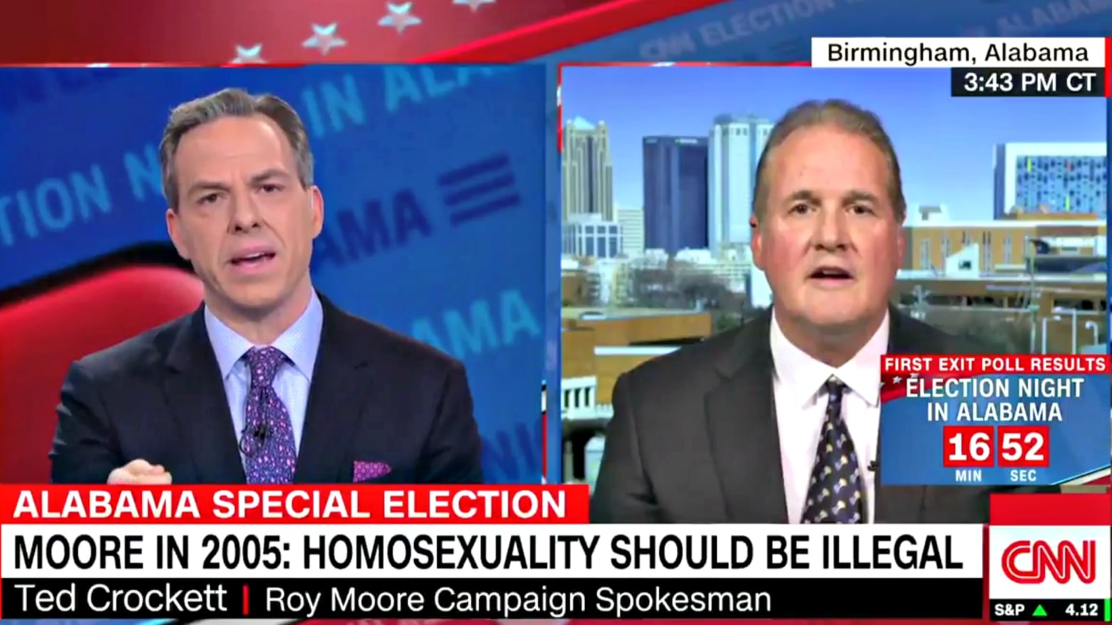 c695a4de Roy Moore Spokesman to CNN: He 'Probably' Thinks Being Gay Should Be Illegal