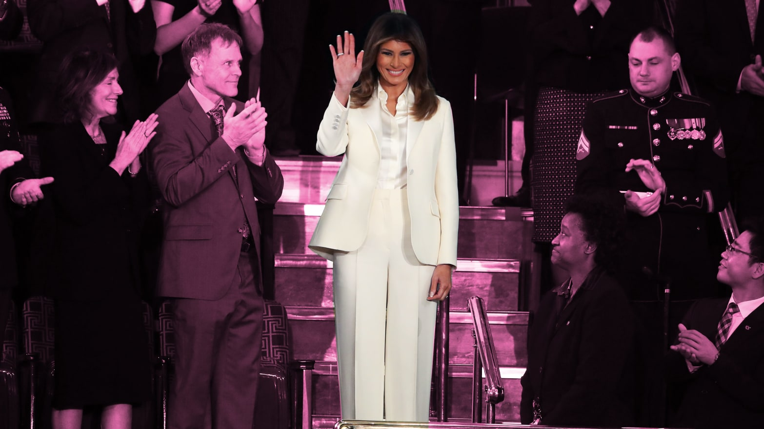 7f09a4318f8 The State of Their Union  Why Melania Trump Wore White