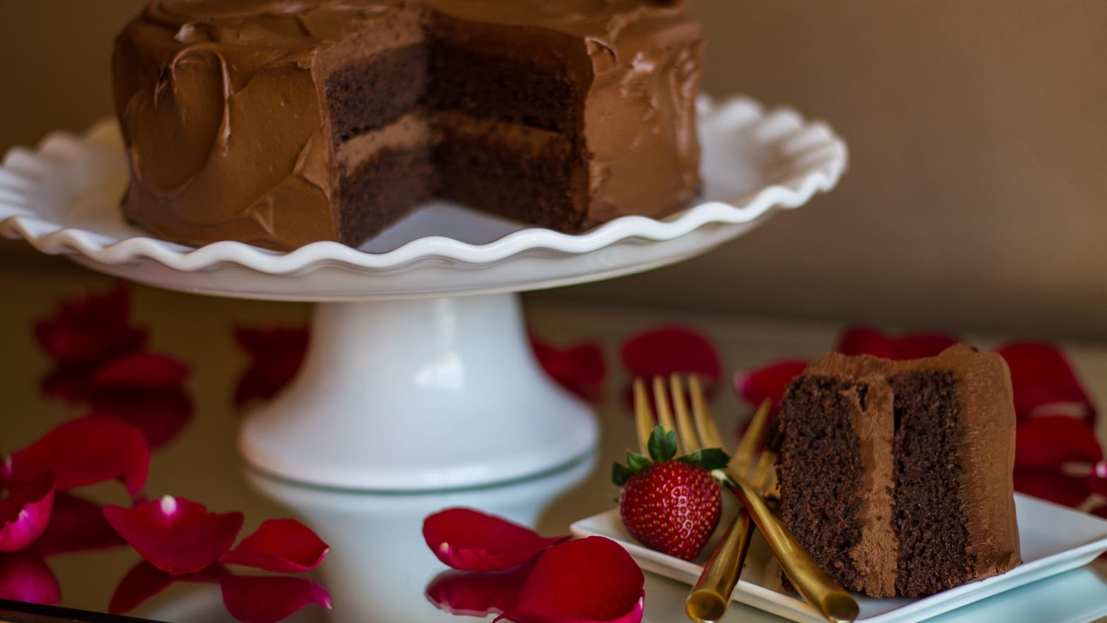 The Ultimate Valentine's Day Chocolate Cake