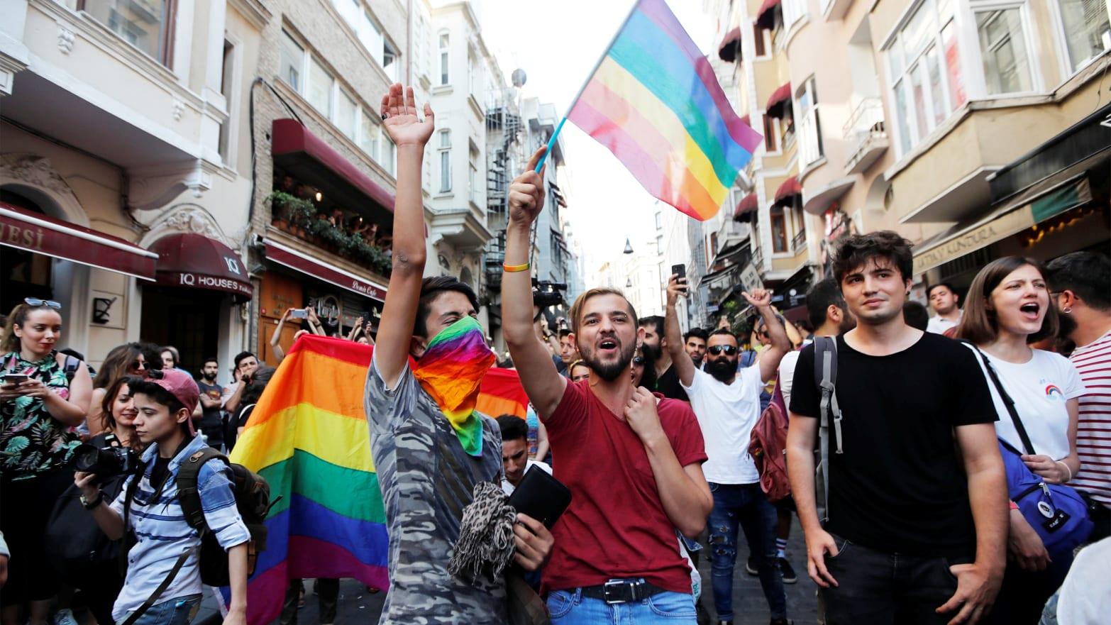 of Gay Pride demonstrations