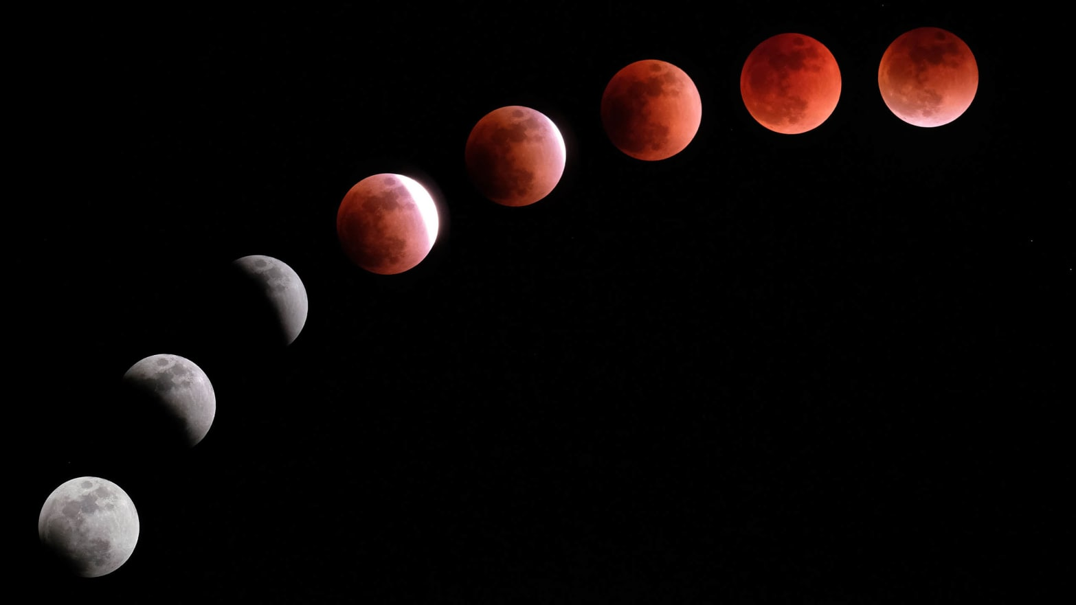 deep red blood moon lunar eclipse longest century phases space bad good luck astrology