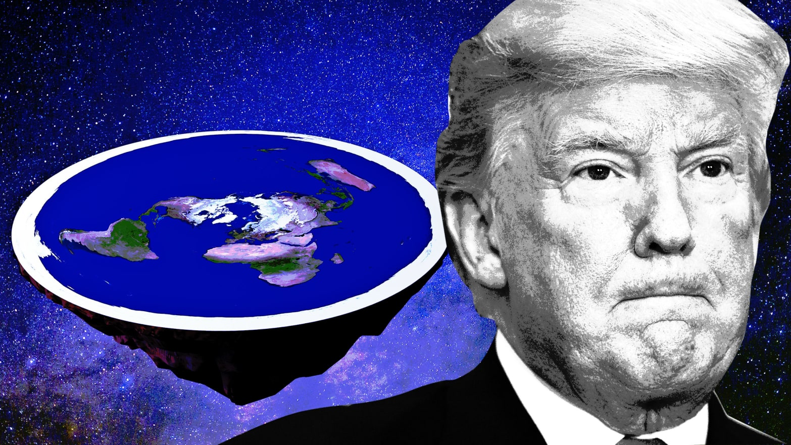 Flat Earthers Call Trump's Space Force Idea 'Impossible'