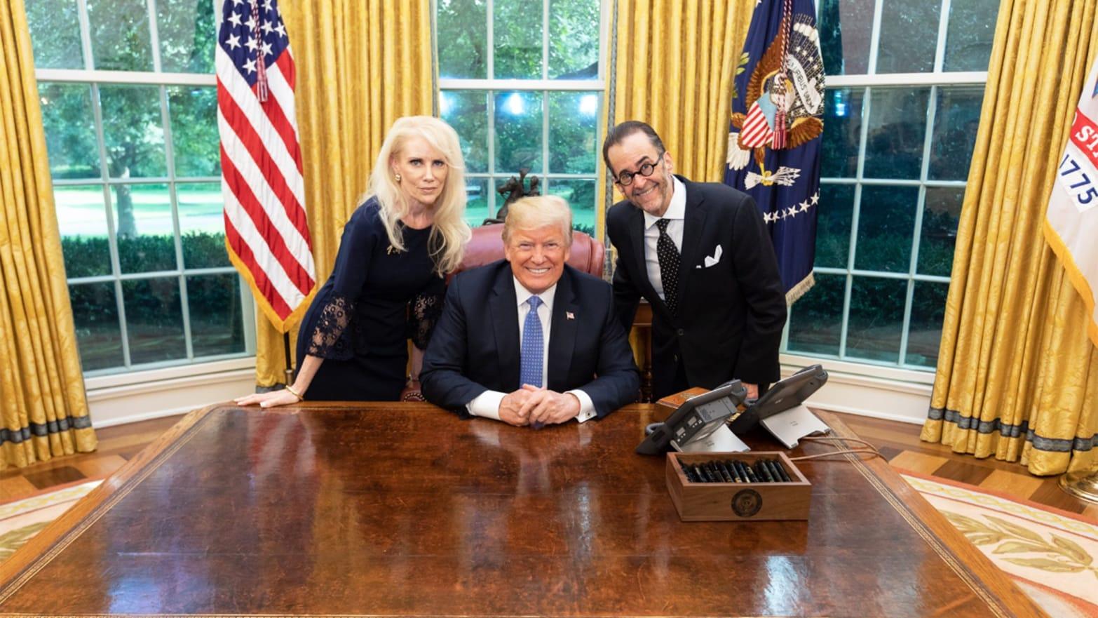 Trump Meets QAnon Kook Who Believes Democrats Run Pedophile Cult