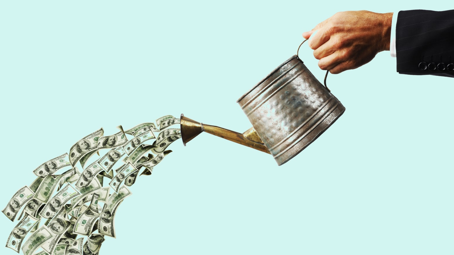 Image result for pouring money