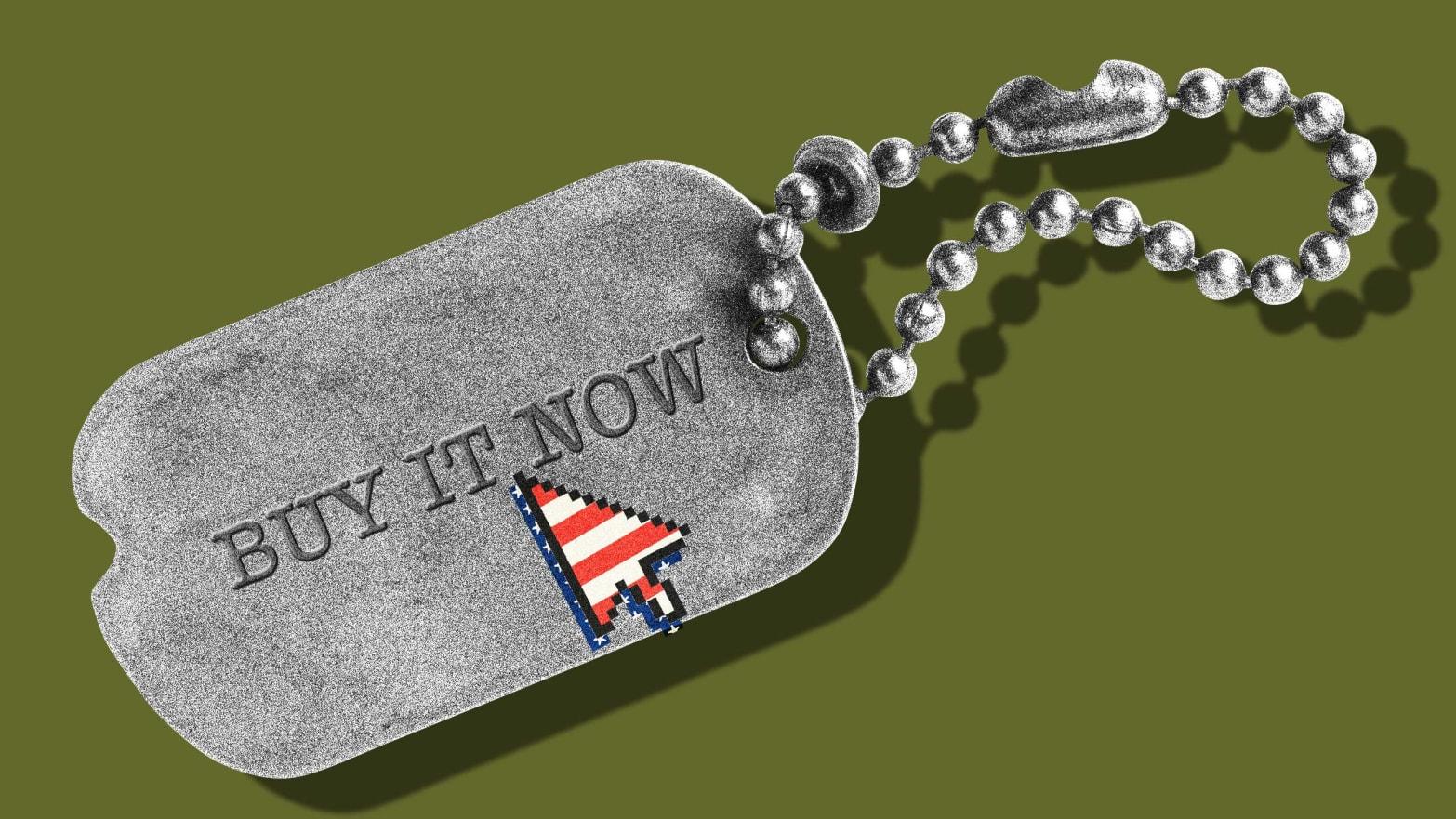 ARMY VETERAN ENGRAVABLE MILITARY WAR DOG TAG