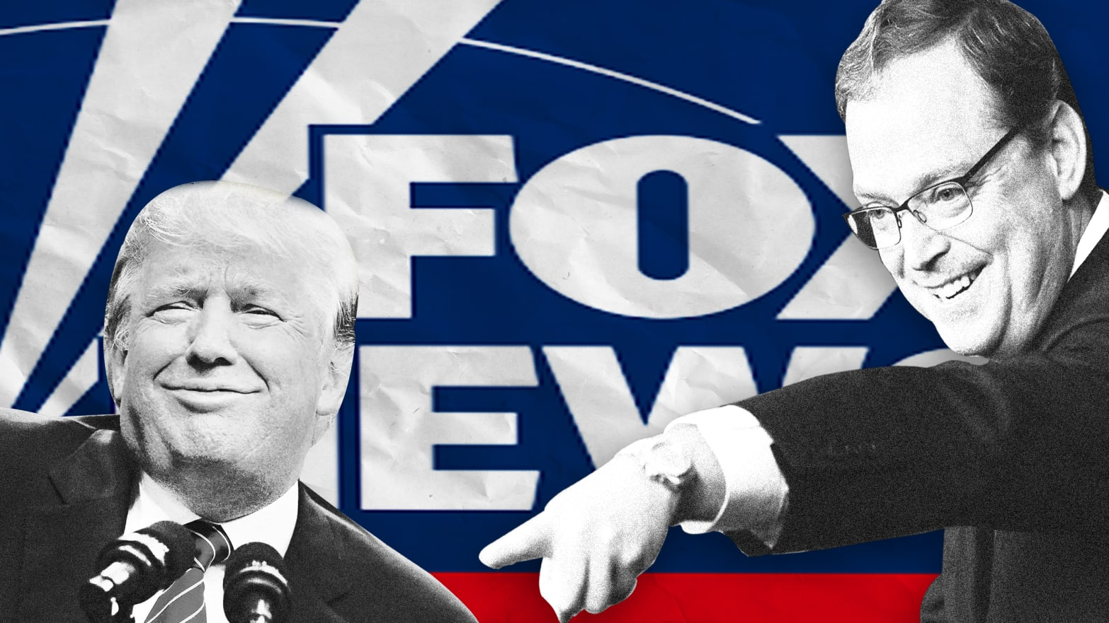 Image result for Illustration Fox/Trump News
