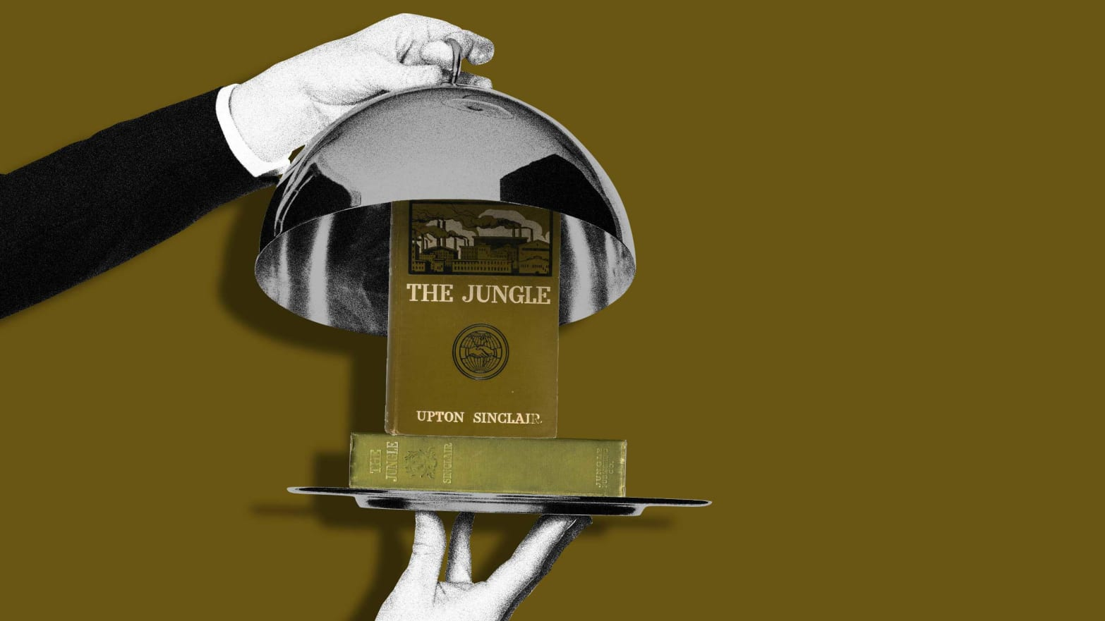 waiter opening silverware plate to reveal upton sinclair the jungle deborah blum poison squad