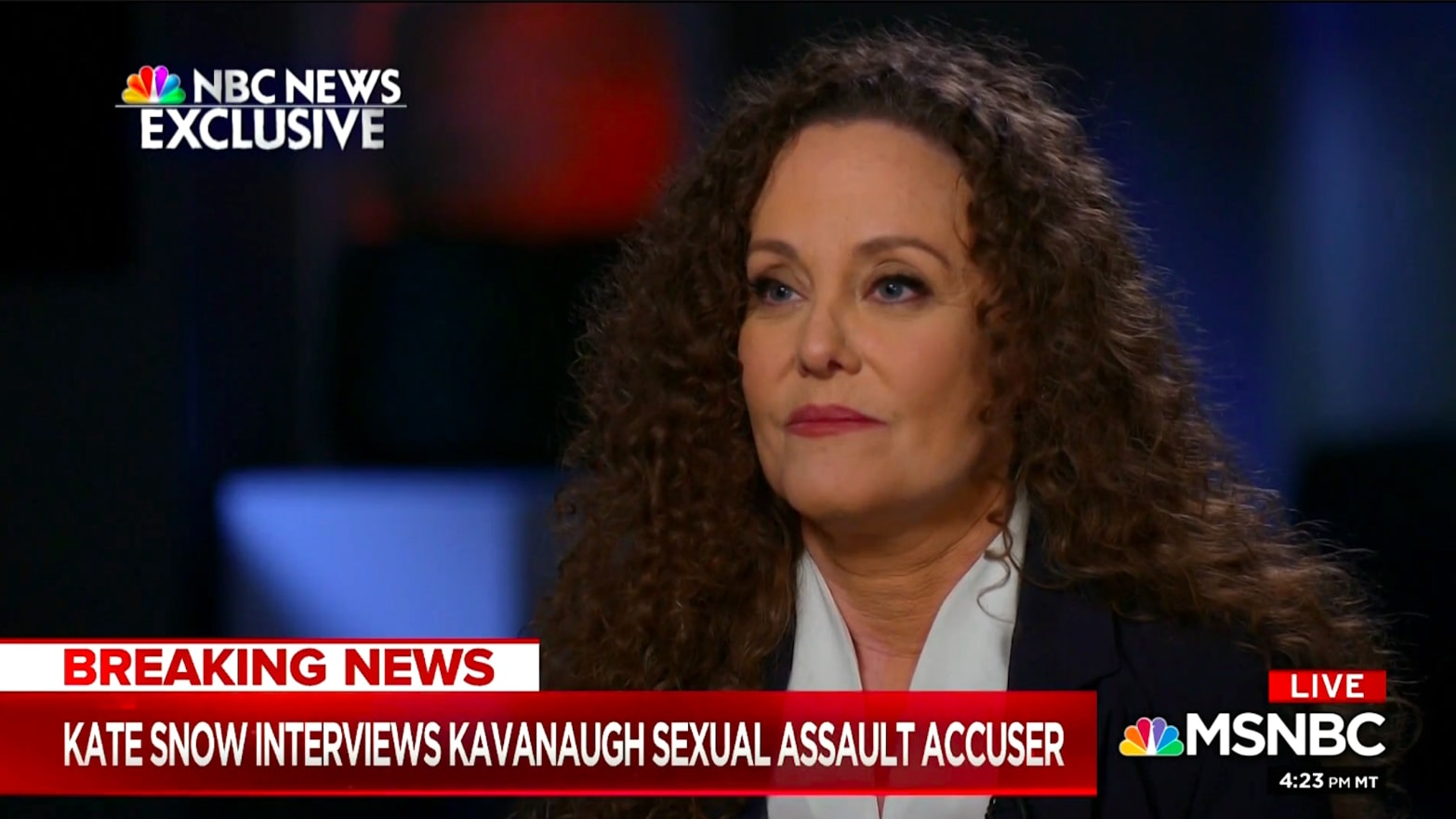 Julie Swetnick Grilled About Kavanaugh, 'Gang Rape' in MSNBC