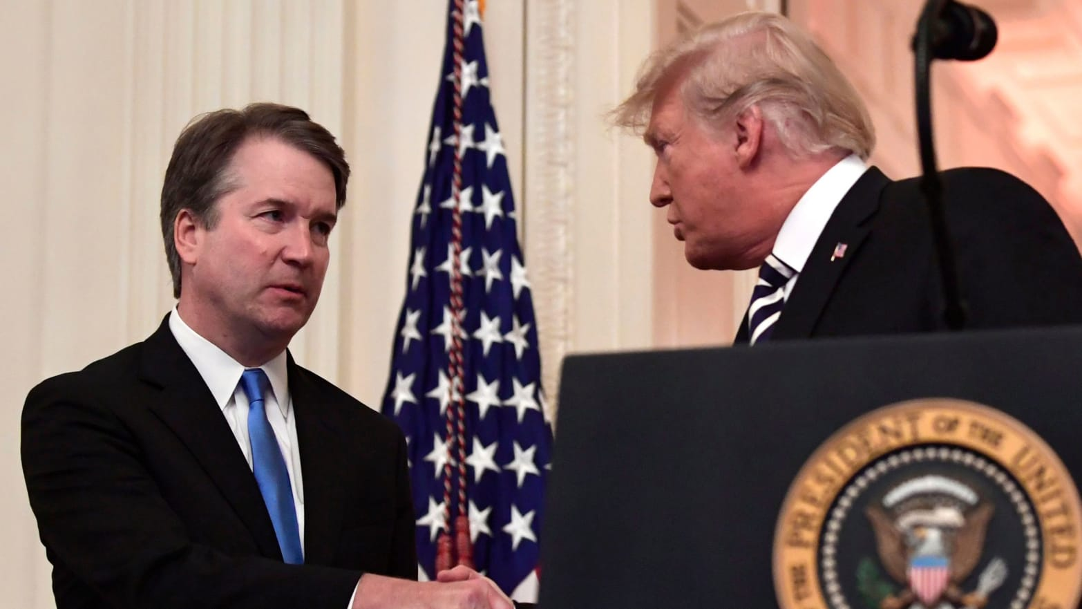 brett kavanaugh shaking hands with donald trump christine blasey ford supreme court justice judge sexual assault rape survivor #metoo metoo women female trauma ptsd psychology psychiatry farber horner
