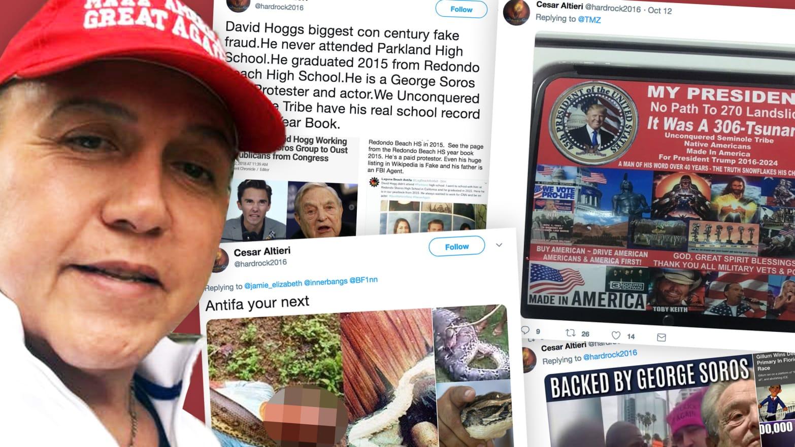 Cesar Sayoc Jr , Alleged Mail Bomber, Threatened Democrats on Twitter