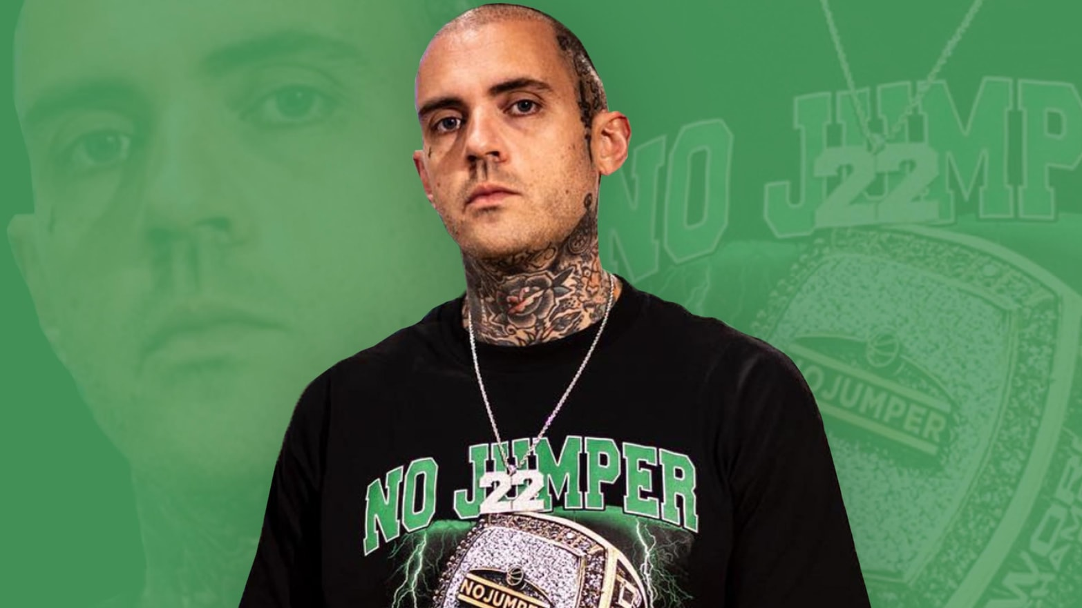 The 37-year old son of father (?) and mother(?) Adam22 in 2021 photo. Adam22 earned a  million dollar salary - leaving the net worth at  million in 2021