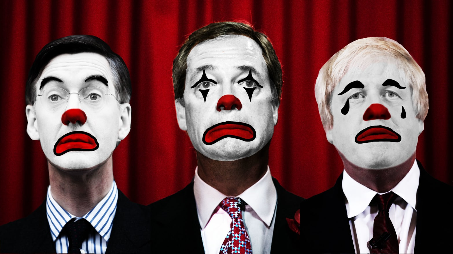 Nigel Farage, Boris Johnson, Jacob Rees-Mogg: The Three Clowns of ...