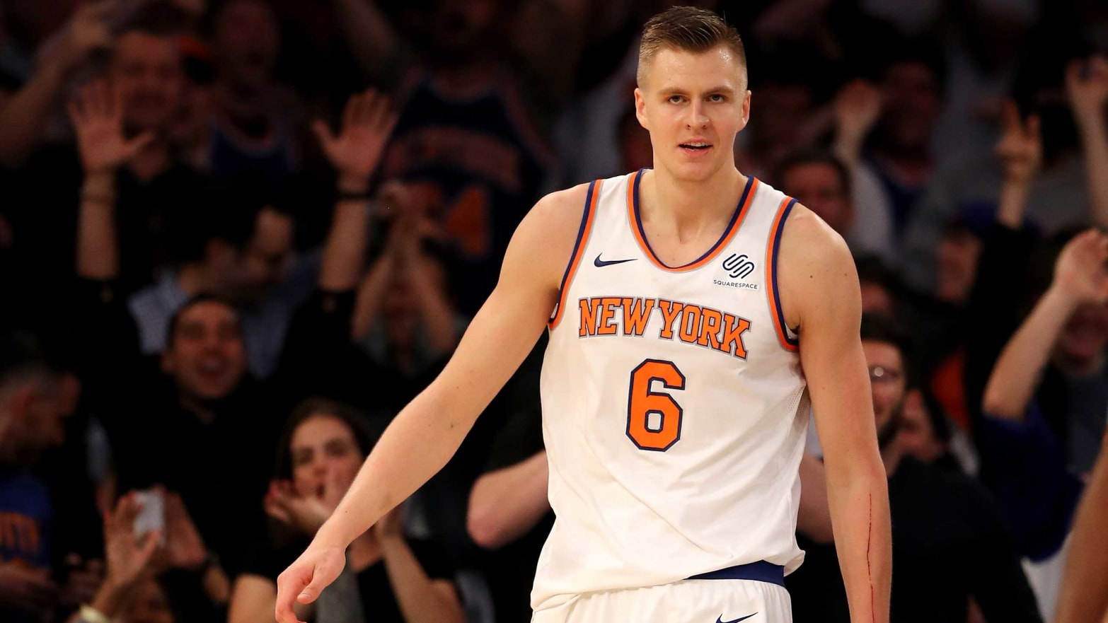 5b34747b0 Knicks Fans Bemoan Porzingis  Trade on Social Media