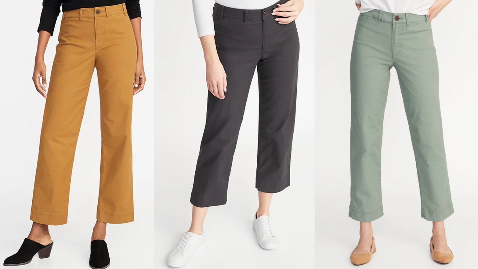 f905fa12d7d2 The Mid-Rise Wide-Leg Utility Chinos From Old Navy Are a Petite Person's  Dream Pants