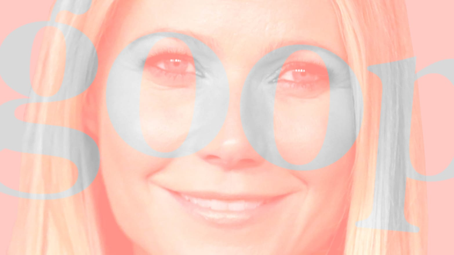 gwyneth paltrow in pink blurred and haze behind light blue pastel goop imprint netflix show timothy caulfield twitter pseudoscience