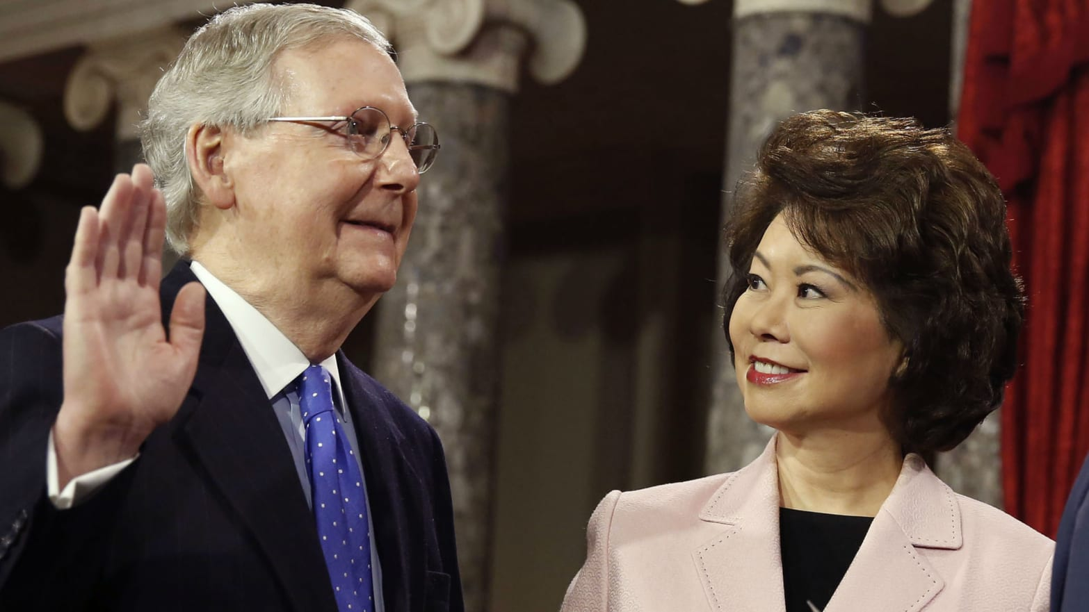 Emails Expose Coordination Between Mitch McConnell and His Wife, Elaine Chao