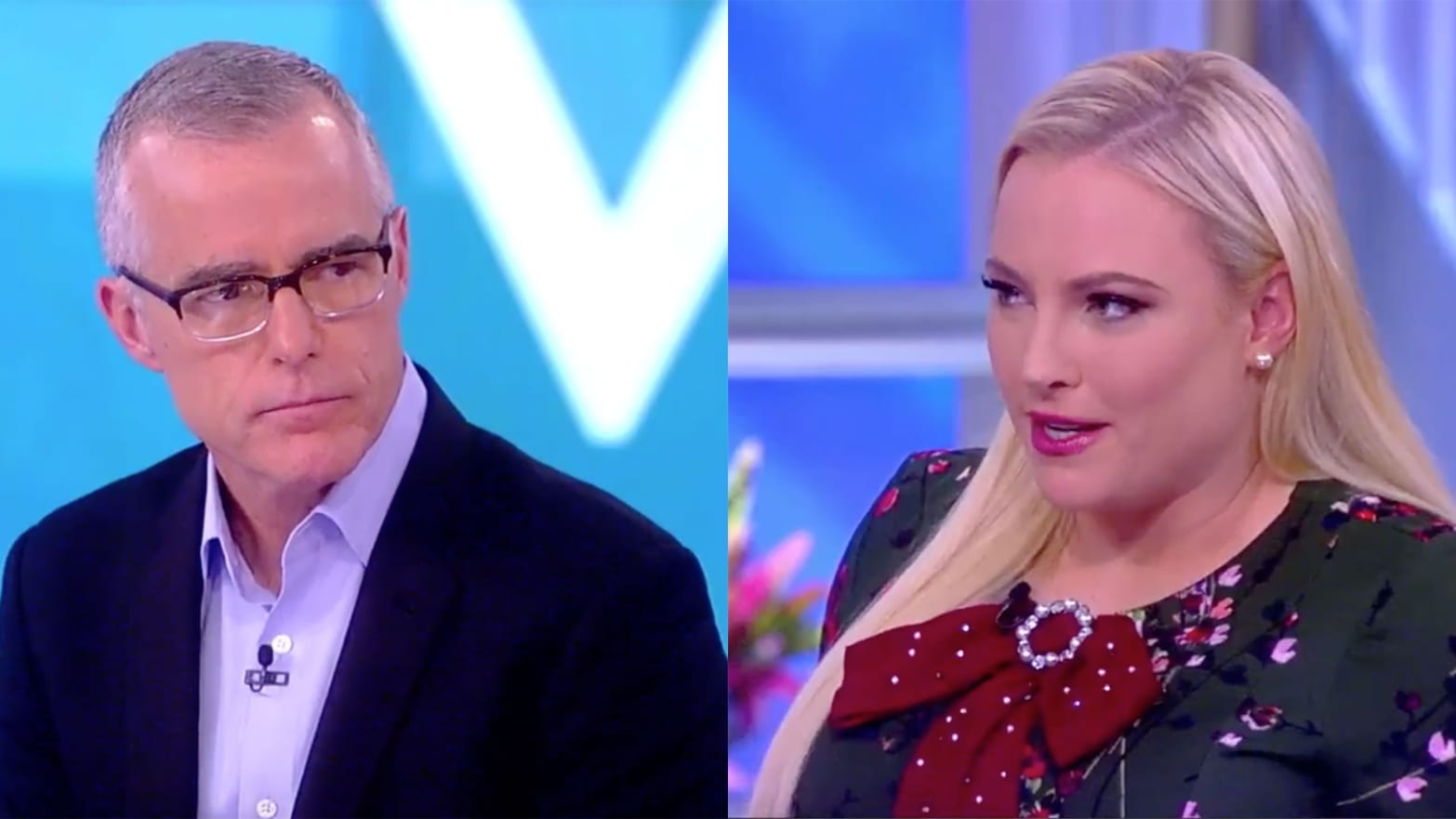 'The View's' Meghan McCain Grills Andrew McCabe: 'I Don't Believe You're a Reliable Narrator'