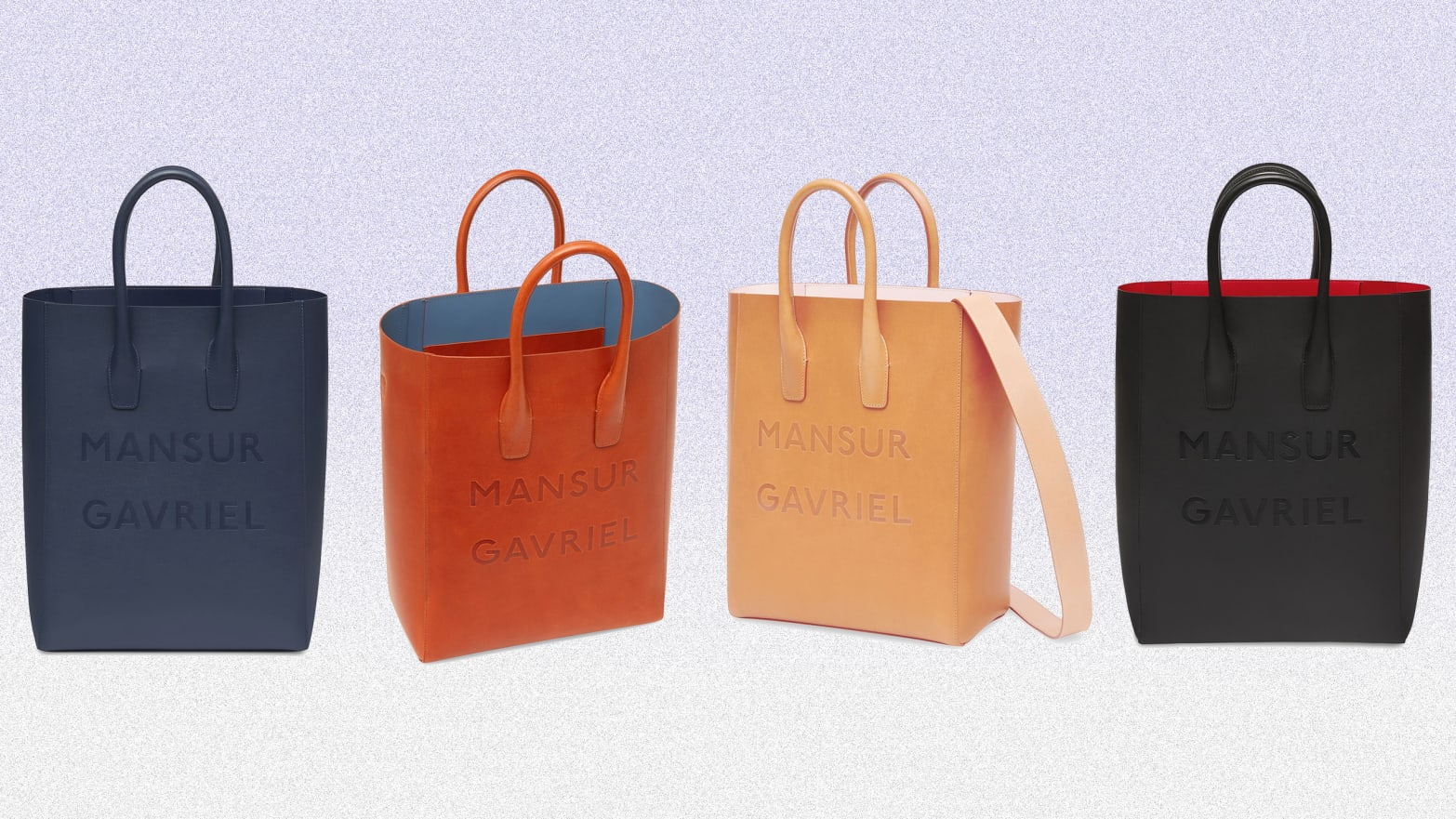 The New Mansur Gavriel Logo North South Tote is Here