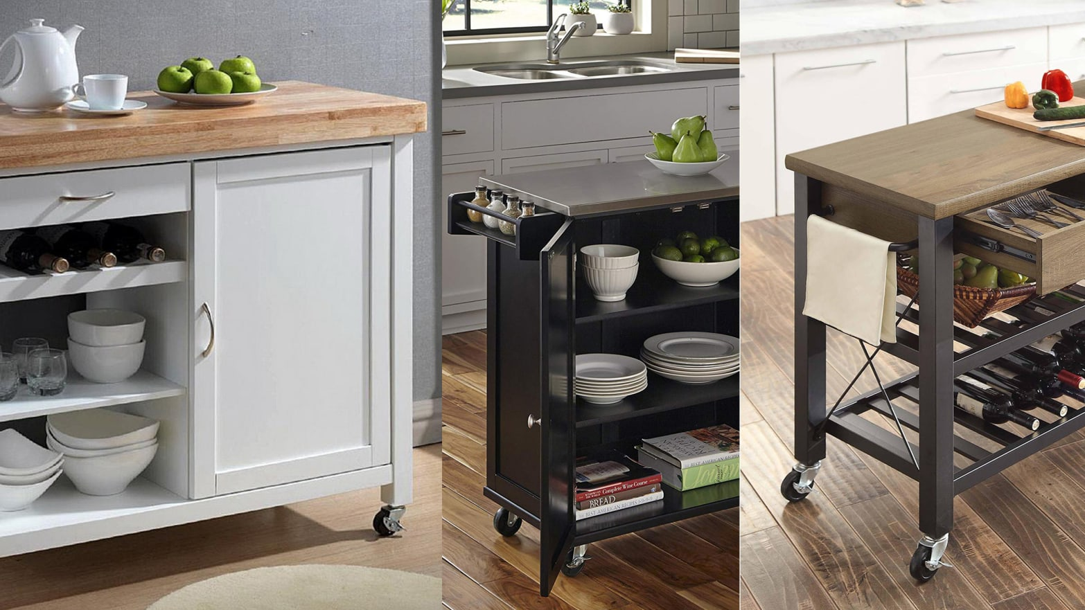 Rolling Kitchen Islands Can Improve Cooking and Dining