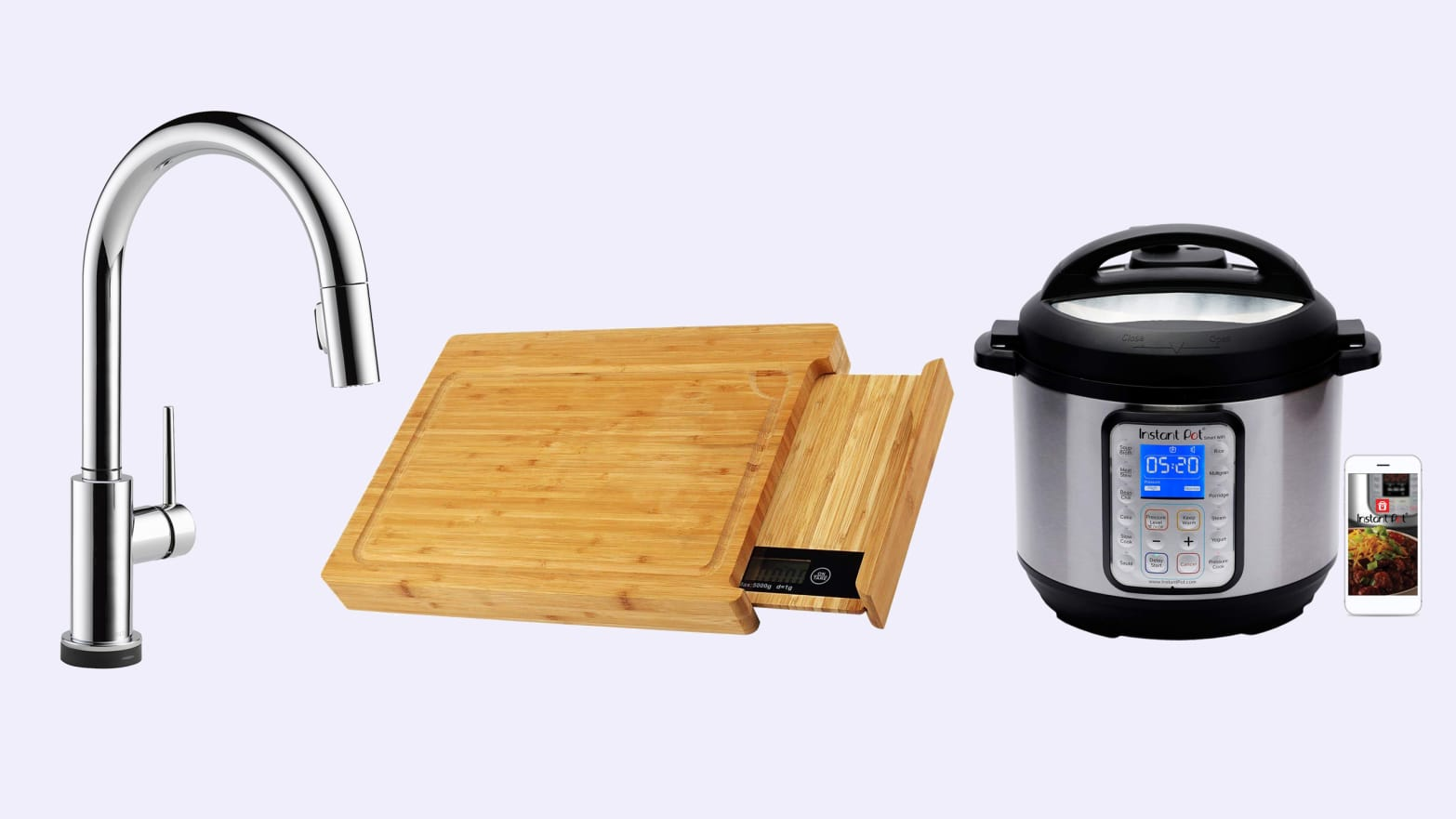 WiFi Instant Pot, Smart Faucets, Microwaves, and More Kitchen Gadgets