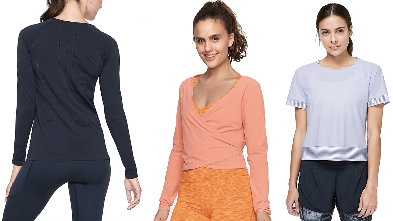 Women's Athleisure Shirts and Tops For The Office from Outdoor Voices, Sweaty Betty, ADAY and More