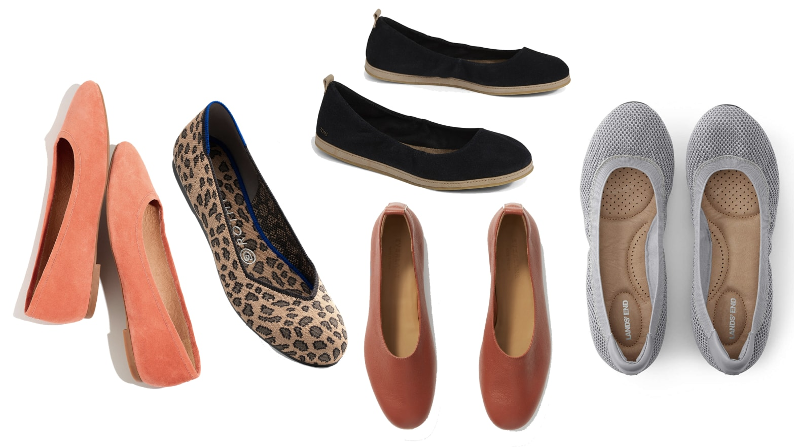 Comfortable Flats from Rothy's, Madewell, Everlane, and More