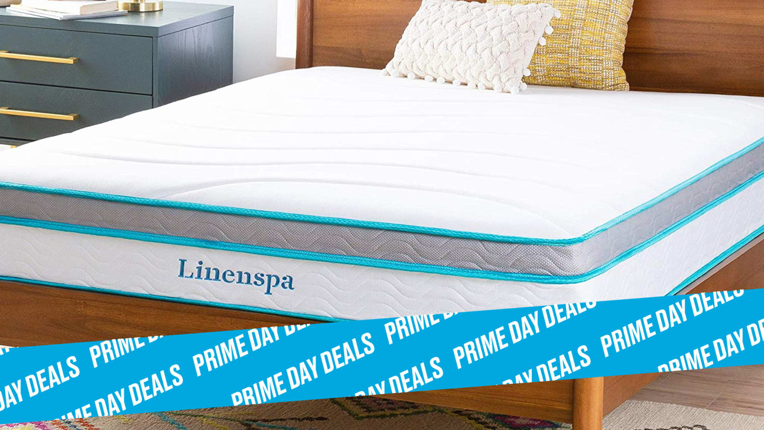The Linenspa 10 Inch Memory Foam Hybrid Mattress Is Under $250 for Prime Day