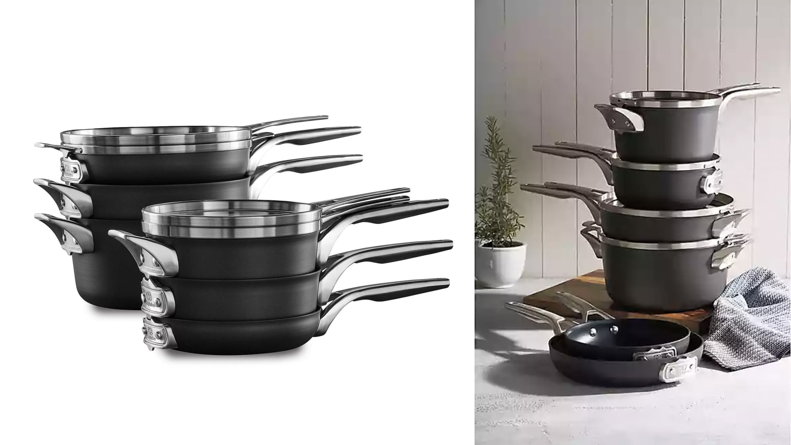 This Stacking Cookware Set From Calphalon Are The Best Pots And