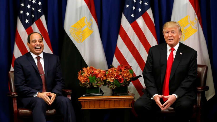 Trump Congratulates Egyptian President Abdel Fattah El-Sisi on Re-Election