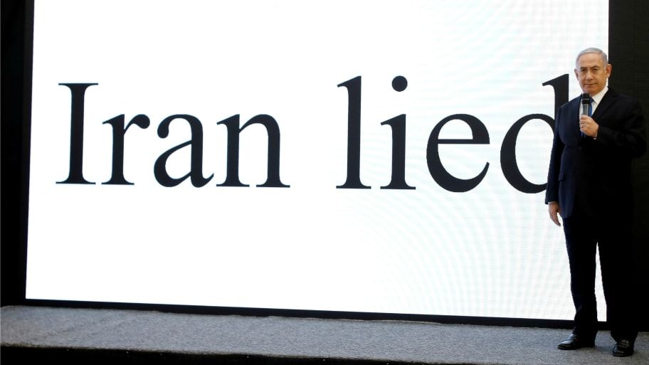 Image result for netanyahu lies iran