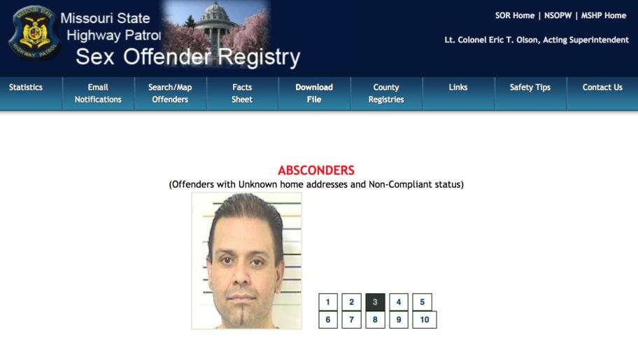 Missouri state police sex offender list