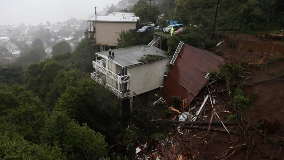 California Mudslide Sends Woman's House Flying Downhill—With Her Inside