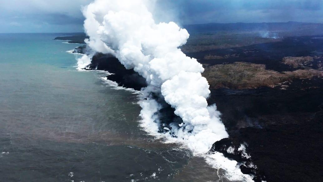 mount mt mauna kilauea hawaii volcano explosion lava geothermal pgv