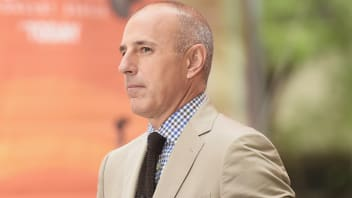 "NEW YORK, NY - AUGUST 22:  Co-host Matt Lauer appears on NBC's ""Today"" at the NBC's TODAY Show on August 22, 2014 in New York City."
