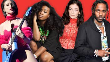 St. Vincent, SZA, Lorde and Kendrick Lamar.