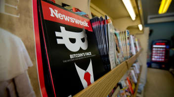 A copy of the new print edition of Newsweek magazine is displayed in a newsstand in Washington on March 10, 2014.