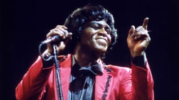 James Brown performs on stage at Wembley Arena on April 18th, 1986 in London.