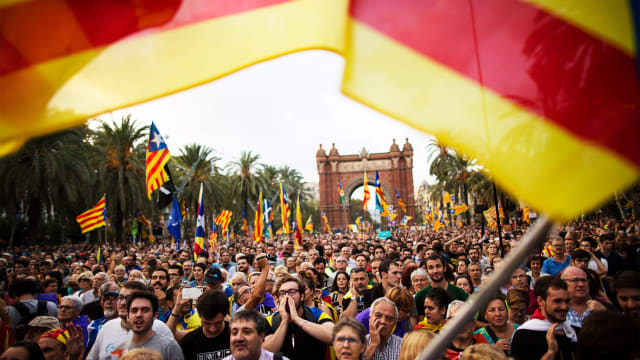 The Catalan Government Declares Catalonia Not Quite Independent