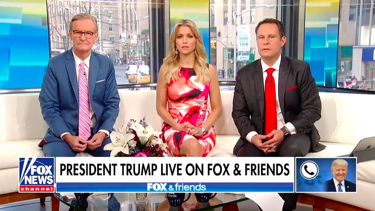 Trump Interview Devolves Into Random Shouting as 'Fox & Friends' Hosts Sit There Stunned