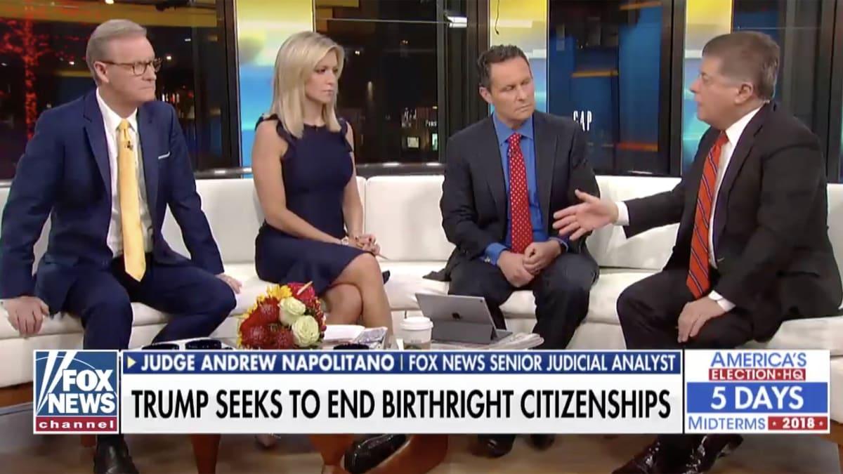 Judge Napolitano Teaches Basic Civics to Desperate 'Fox & Friends' Hosts