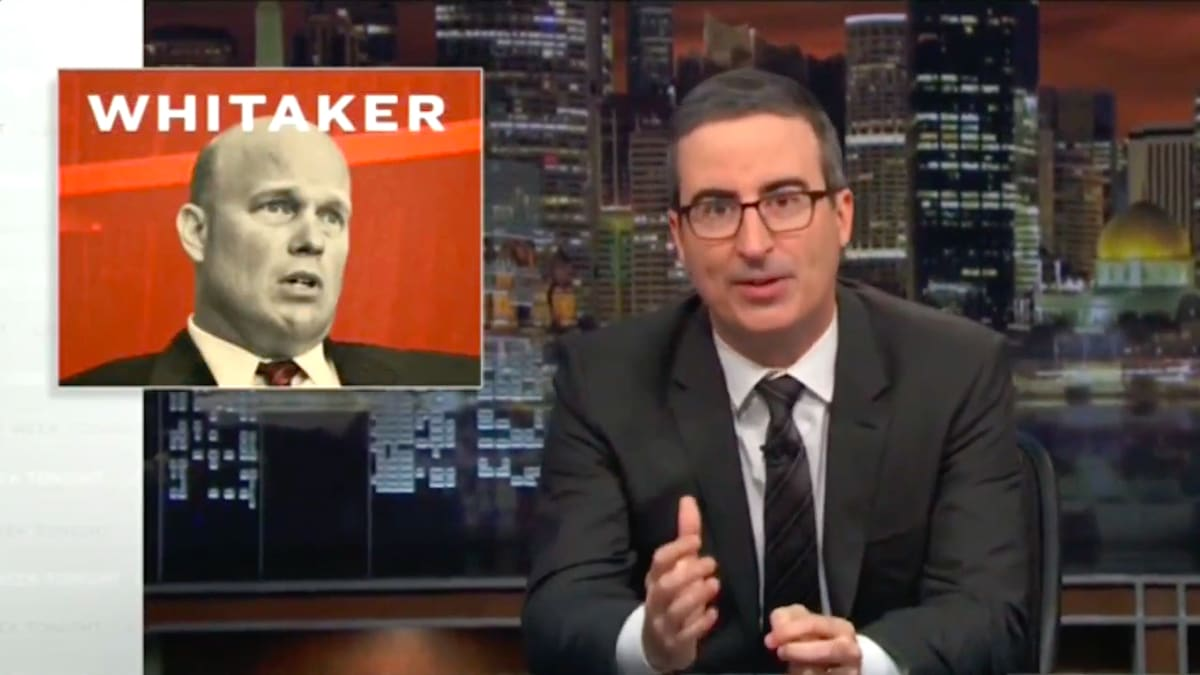 John Oliver Exposes Acting AG Matt Whitaker's 'Completely Disqualifying' Past
