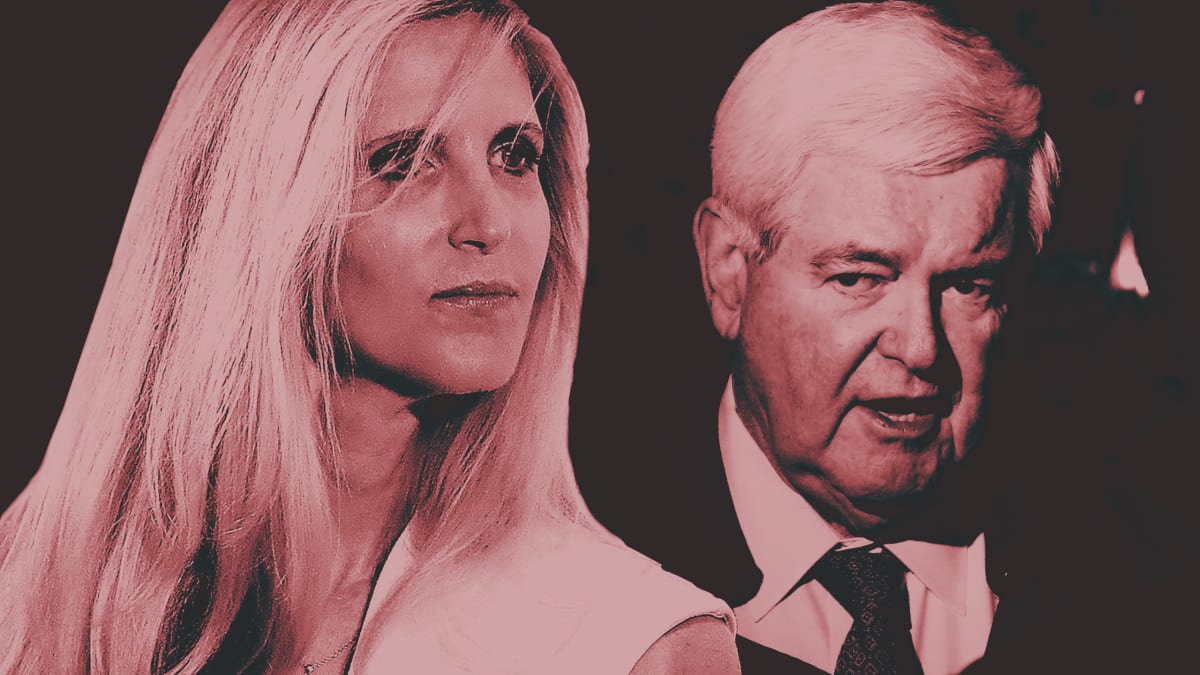 Ann Coulter Goes Scorched Earth on Newt Gingrich in Battle Over Trump